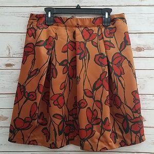 EUC🌻Simply Vera Vera Wang Satin Floral Skirt